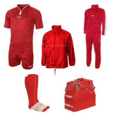 Set echipament fotbal Superbox Oceania, Rosu, MAXSPORT