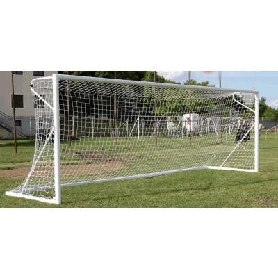 Poarta fotbal din aluminiu 7,32х2,44 m set de doua bucati + plasa gratuit