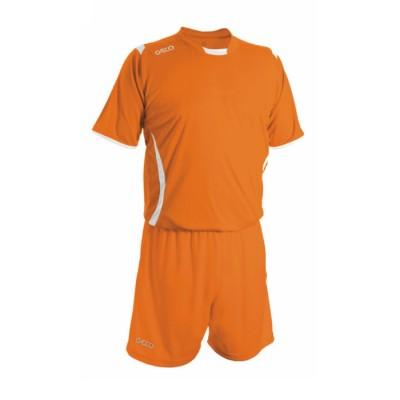 Echipament fotbal portocaliu alb GECO